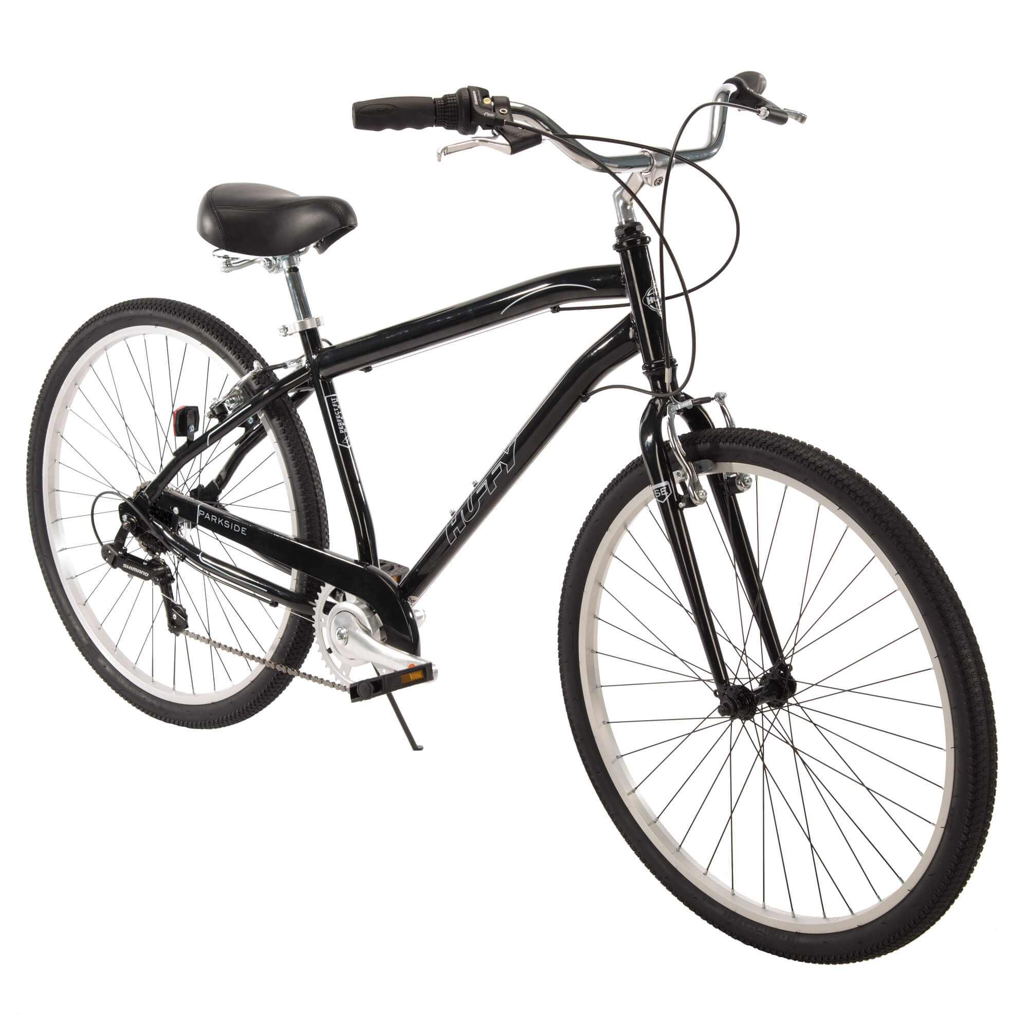 "27.5"" Huffy Mens' Parkside 7-Speed Bike, Black by Huffy"