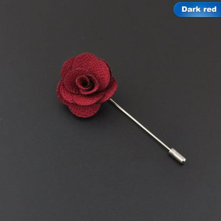 KABOER Lapel Flower Brooch Camellia Handmade Boutonniere Stick Brooch TMvt Estate Yellow Brooch