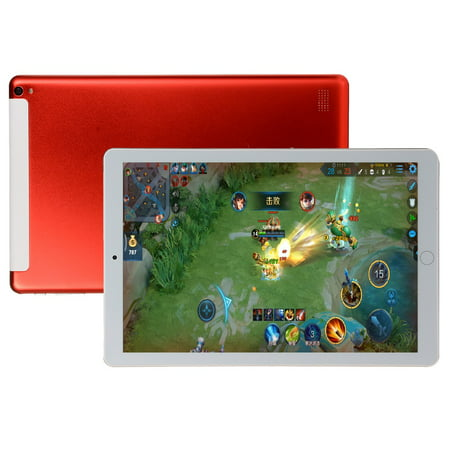10.1 inch Tablet PC Octa Core Android 8.0 Dual SIM Phone Call Tab Phone PC Tablets Red AU plug