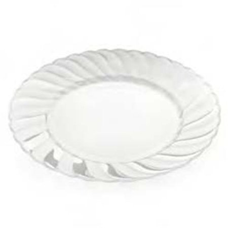 CPC 10ELCP 10 in. Elegant Clear Disposable Hard Plastic Plates, Clear - Case of 18 - Plastic Clear Plates