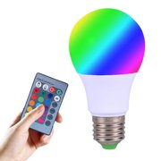 16 Colors LED Light Bulb, Dimmable E27 LED Light Bulb, Color Changing Light Bulb with Remote Control, Decorative Lights, Mood Light Bulb, Great for Home Decor, Stage, Party and More