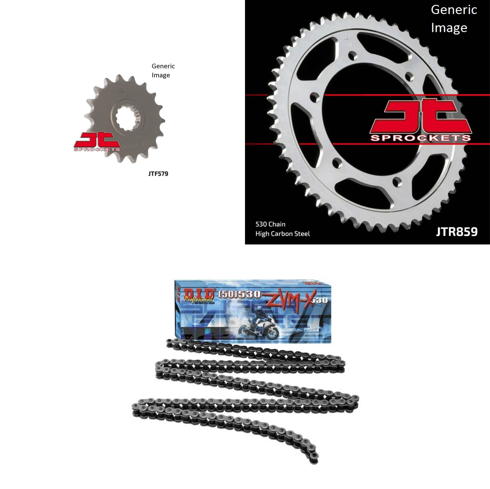 DID 530ZVM-X Super Street Chain Natural, JT Front & Rear ...