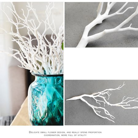 Marainbow Dried Artificial Plant Tree Branches Stem Vase Home Flowers Decoration, White ()