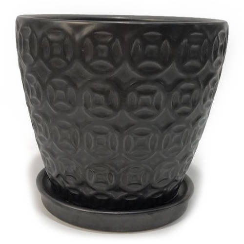 """Better Homes and Gardens 6"""" Planter, Black by HK YIBO CERAMICS LIMITED"""
