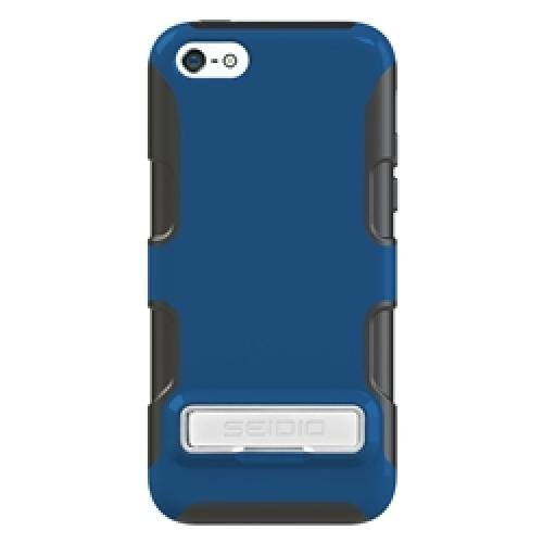 Seidio CSK3IPH5CK-RB DILEX Case with Metal Kickstand for use with Apple iPhone 5C Royal Blue by Seidio, Inc