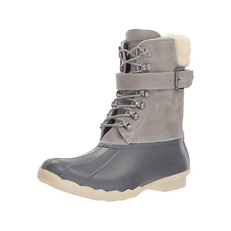 Sperry Women's Shearwater Duck inspired Wet Weather Boots Gray (5.5M) ()