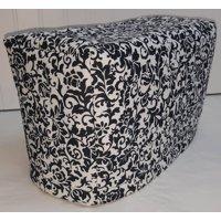 Toaster Cover (2 Slice, Black & White Floral Damask)