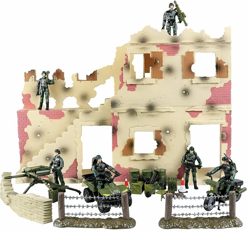 Click N' Play Urban Warfare Battlefield Military Action Figure 43 Piece Playset With... by Click N' Play