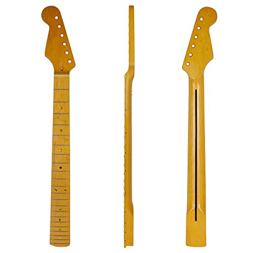 22 fret Maple Board Clear Gloss NEW Stratocaster BAKED Maple Strat Neck