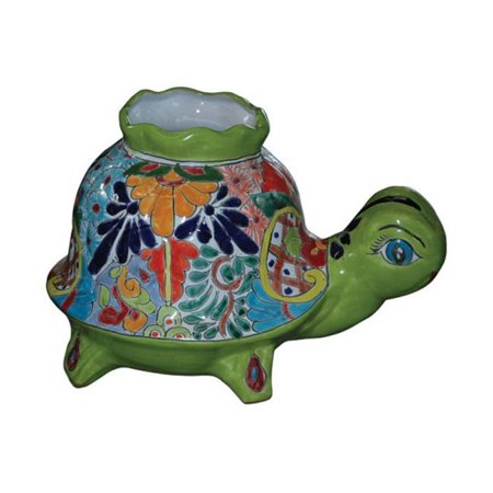 Avera Products APG046090 9 in. Talavera Turtle Pot Planter - pack of 2 - image 1 of 1