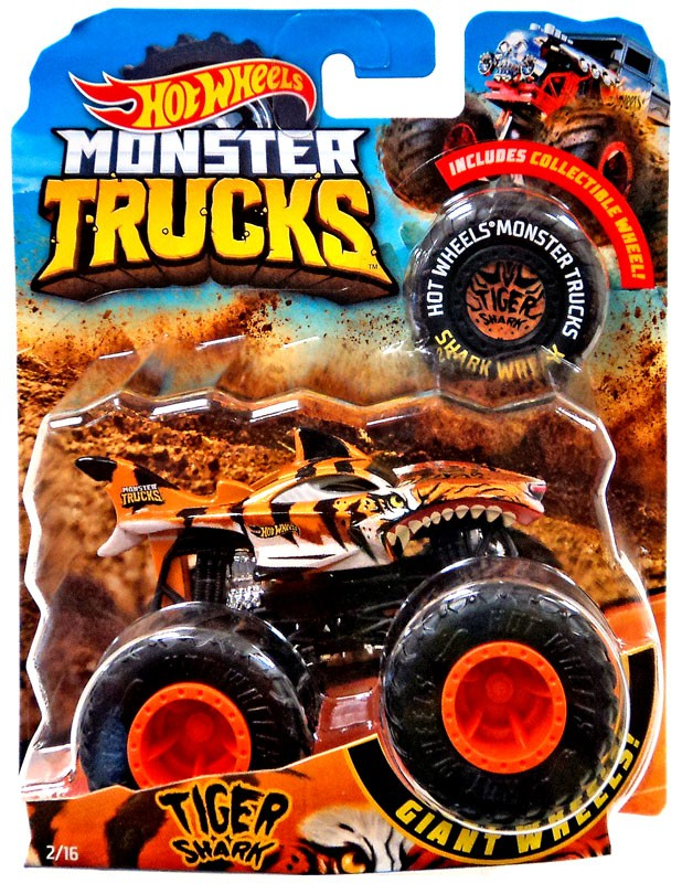 Hot Wheels Monster Trucks Tiger Shark Die Cast Car Walmart Com Walmart Com
