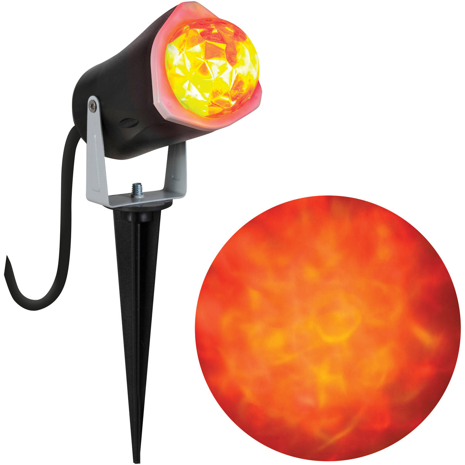 Gemmy Lightshow Projection Light, Fire and Ice (Red Red Yellow) Halloween Decoration