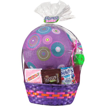 Easter Basket With Toys And Assorted Candies  5 Pc
