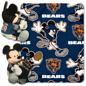 "Disney NFL Chicago Bears Hugger Pillow and 40"" x 50"" Throw Set"