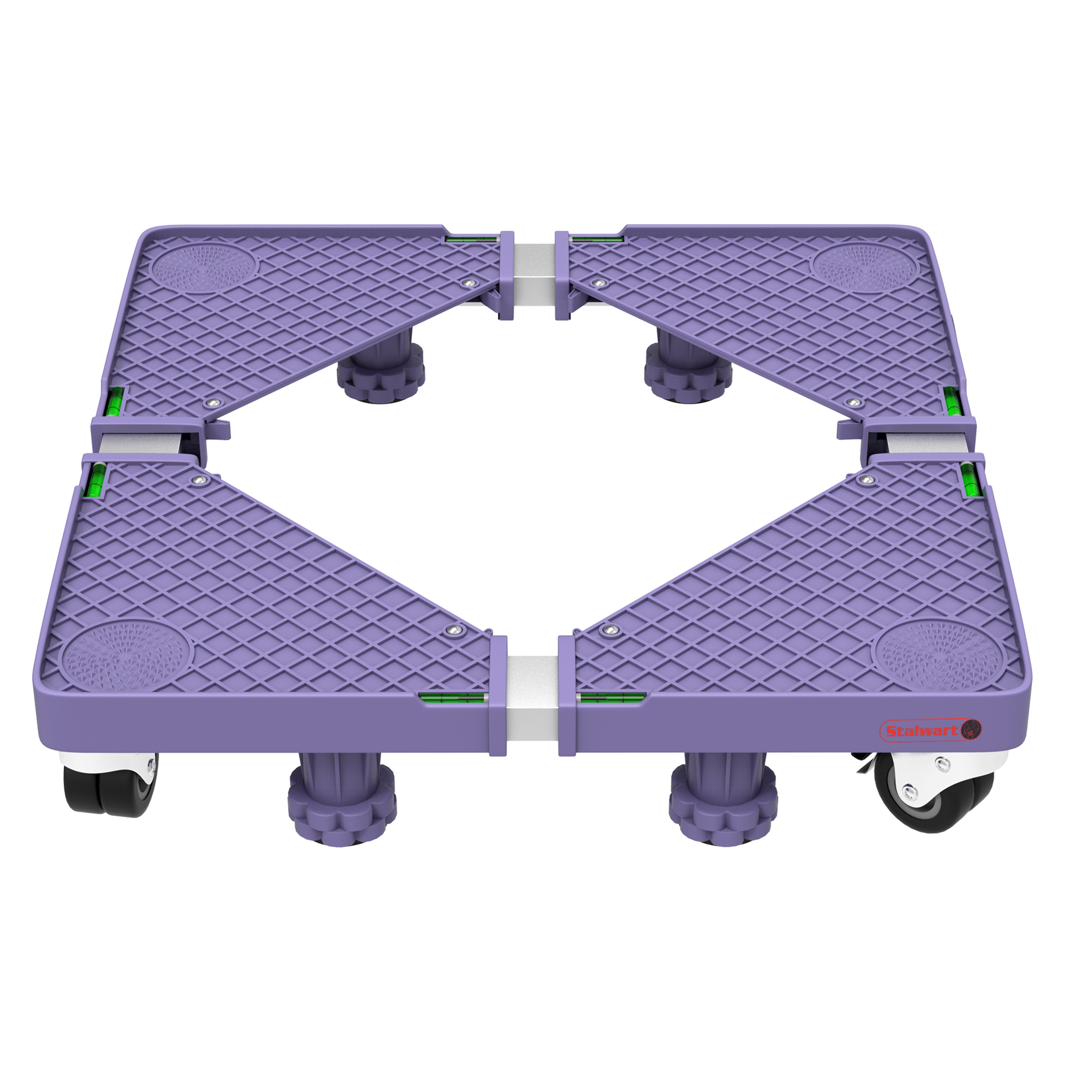 Wrap /& Move MOVING DOLLY 590x490mm 360-Deg Swivel Castors With Brakes,300Kg Load