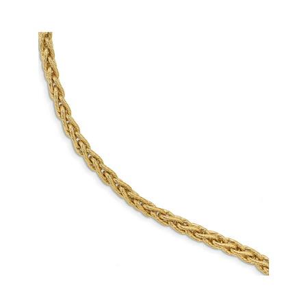 Leslie's 14K Polished & Textured Fancy Link Bracelet - image 1 of 1