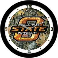 Oklahoma State Camo Wall Clock