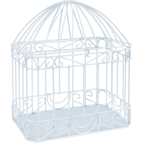 Wilton Bird Cage Style Gift Card Holder, White 1006-0619