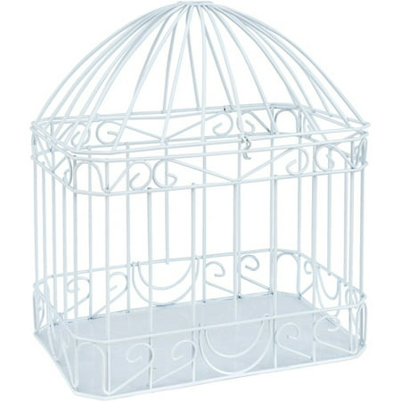Wilton White Bird Cage Style Gift Card Holder, 1 Each