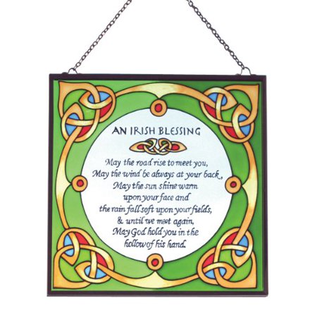 Stained Glass Irish Blessing Suncatcher