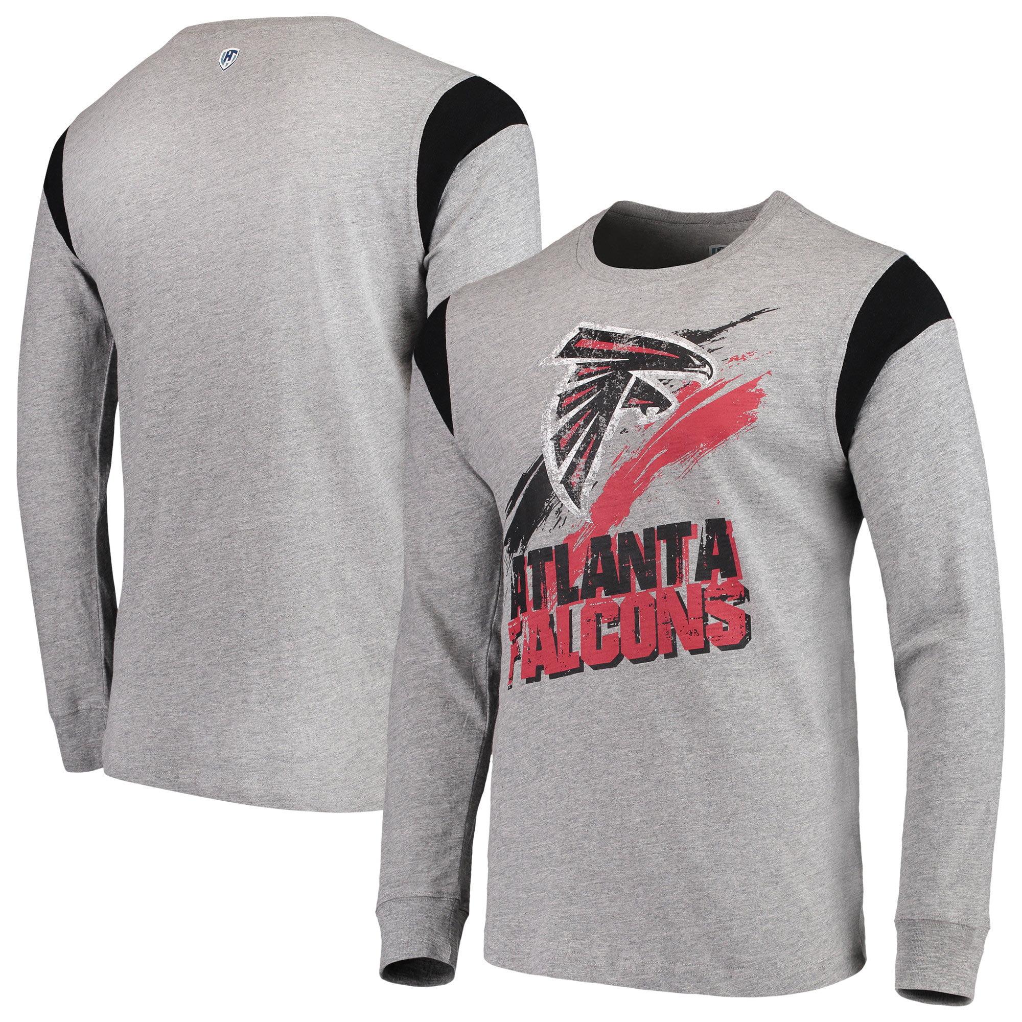 Atlanta Falcons G-III Sports by Carl Banks Wide Receiver Long Sleeve T-Shirt - Heathered Gray/Black