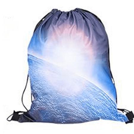 Cheeseburger Backpack Steven Universe (Earth Galaxy Drawstring Backpack Universe Space Back Pack School Bag)