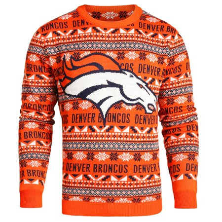 reputable site 4b9b7 d8092 Denver Broncos NFL Big Logo Ugly Crewneck Sweater | Walmart ...