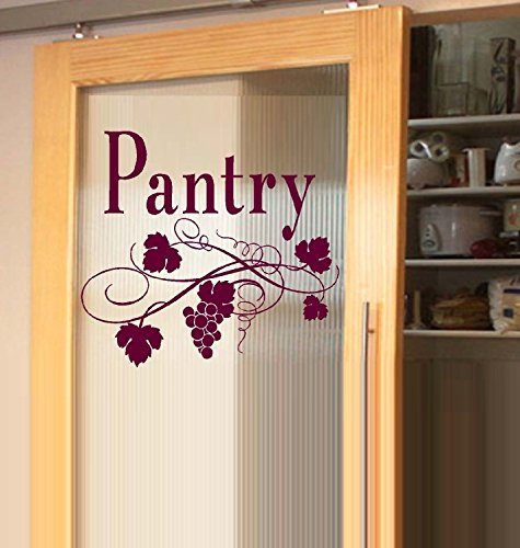 "Decal ~ Pantry ~ Wall Decal 13"" x 15"" (Burgundy)"