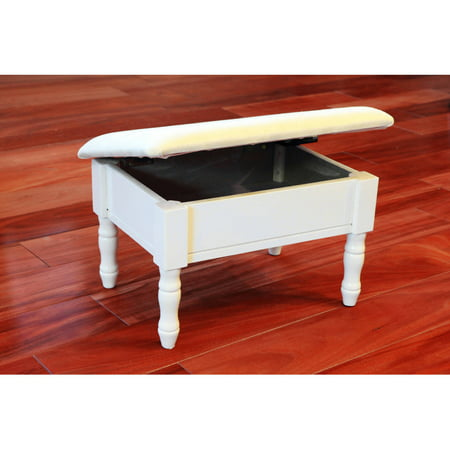 Home Craft Storage Foot Stool White Walmart Com