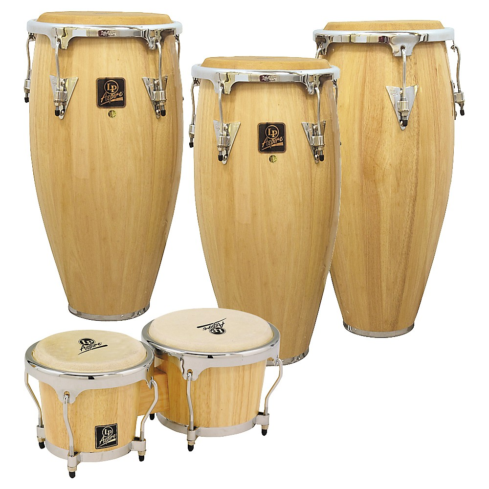 LP Aspire 3-Piece Conga Set with Free Bongos! by LP
