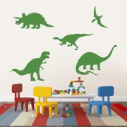 Large Set of Dinosaurs Wall Decals ORANGE