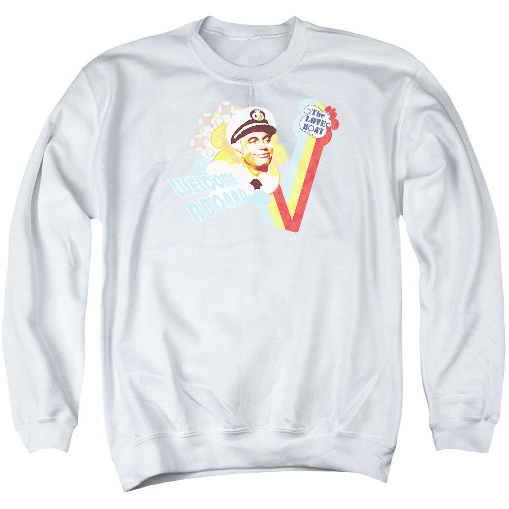 Love Boat Welcome Aboard Mens Crewneck Sweatshirt
