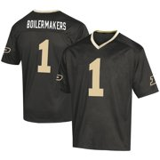 Men's Russell Athletic #1 Black Purdue Boilermakers Fashion Football Jersey