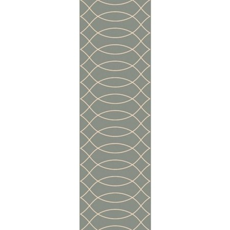 2.5' x 8' Nocturnal Illusions Raindrop Gray and Ivory White Area Throw Rug (White Illusion)