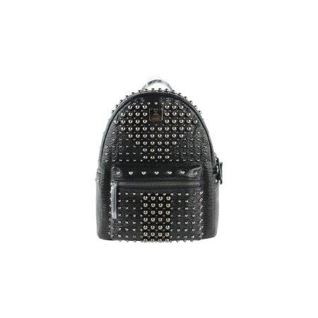 085f62cb2aa MCM - Stark Pearl Stud 2mcz1016 Black Leather Backpack - Walmart.com