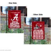 "Alabama Crimson Tide 16 Time Football Champions 13"" x 18"" College Garden Flag"