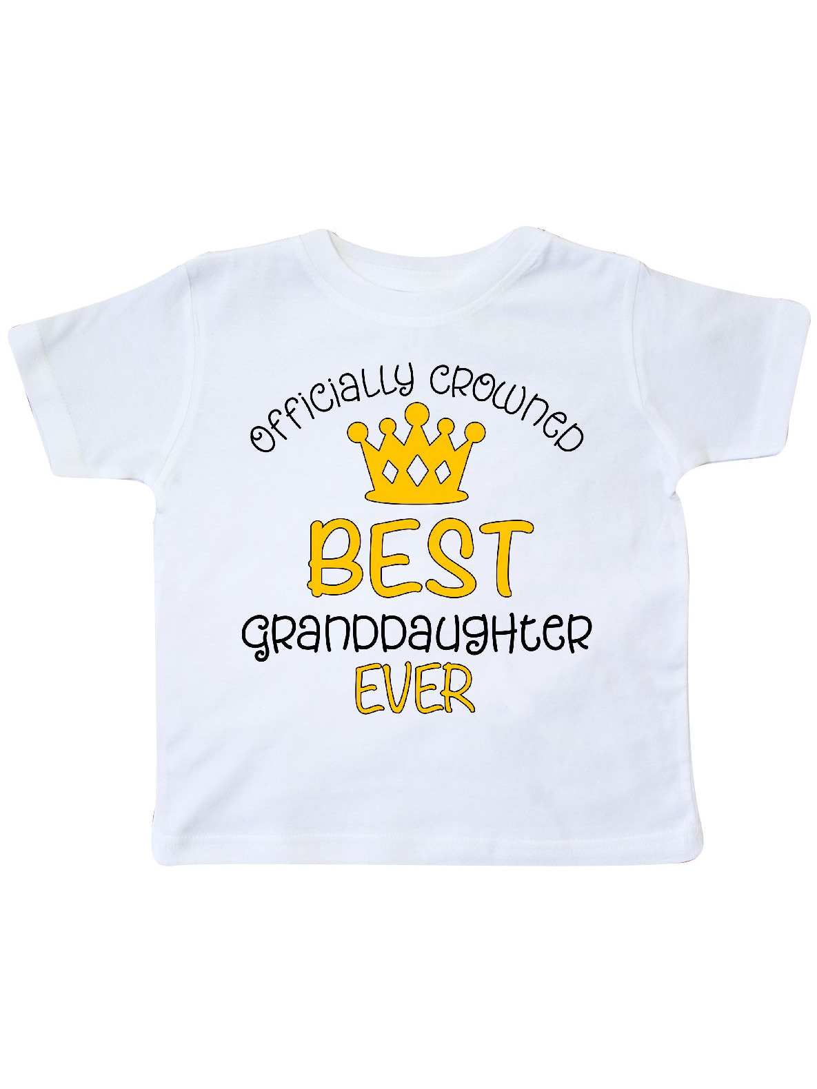 inktastic Officially Crowned Best Granddaughter Ever Gold Crown Toddler T-Shirt