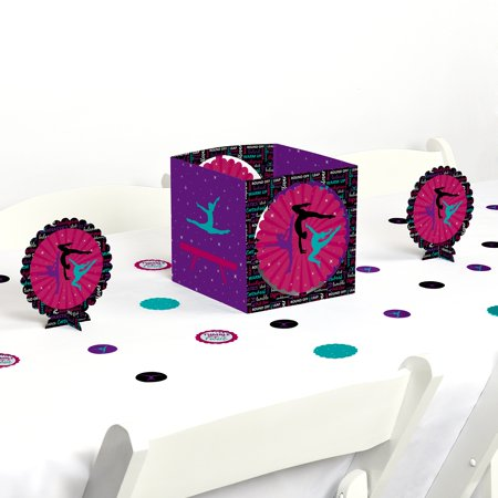Tumble, Flip & Twirl - Gymnastics - Birthday Party or Gymnast Party Centerpiece & Table Decoration Kit - Birthday Centerpiece Ideas For Adults