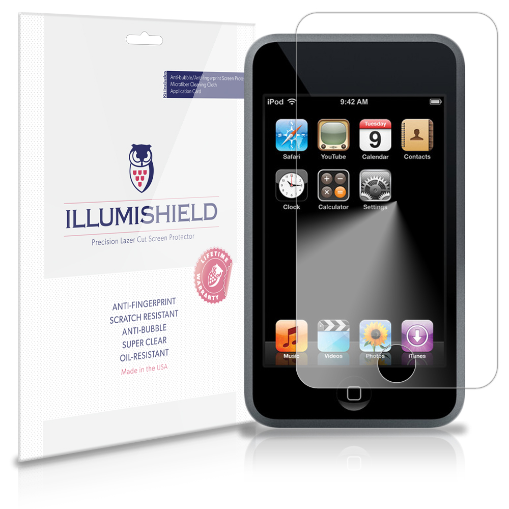 iLLumiShield Anti-Bubble/Print Screen Protector 3x for Apple iPod Touch 1