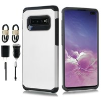 """Product Image Value Pack for 5.8"""" Samsung Galaxy S10e Slim Case Dual Layer Protective Case Hard Back"""