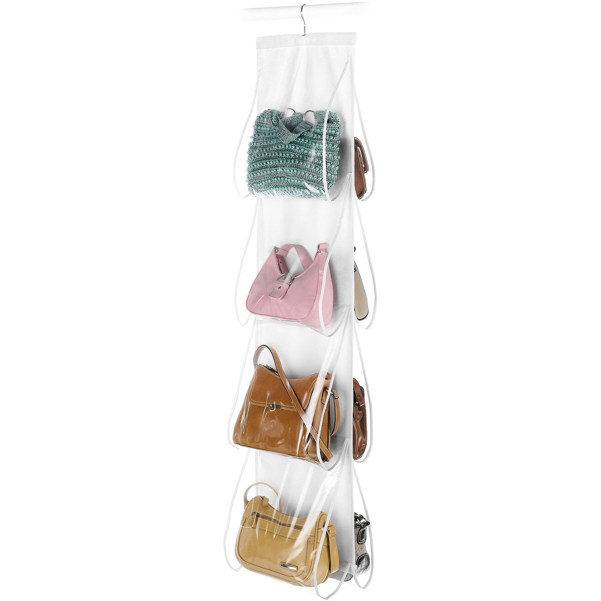 Whitmor White Hanging Handbag File