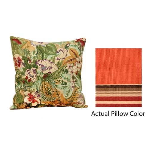 "18"" Outdoor Patio Throw Pillow - Sunbrella Southwestern Stripe"