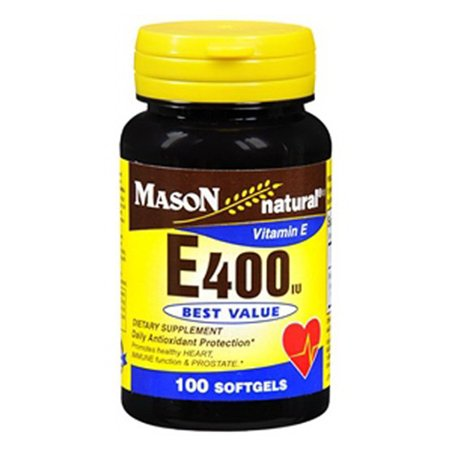 Mason Natural Vitamin E 400 IU - 100 Softgels