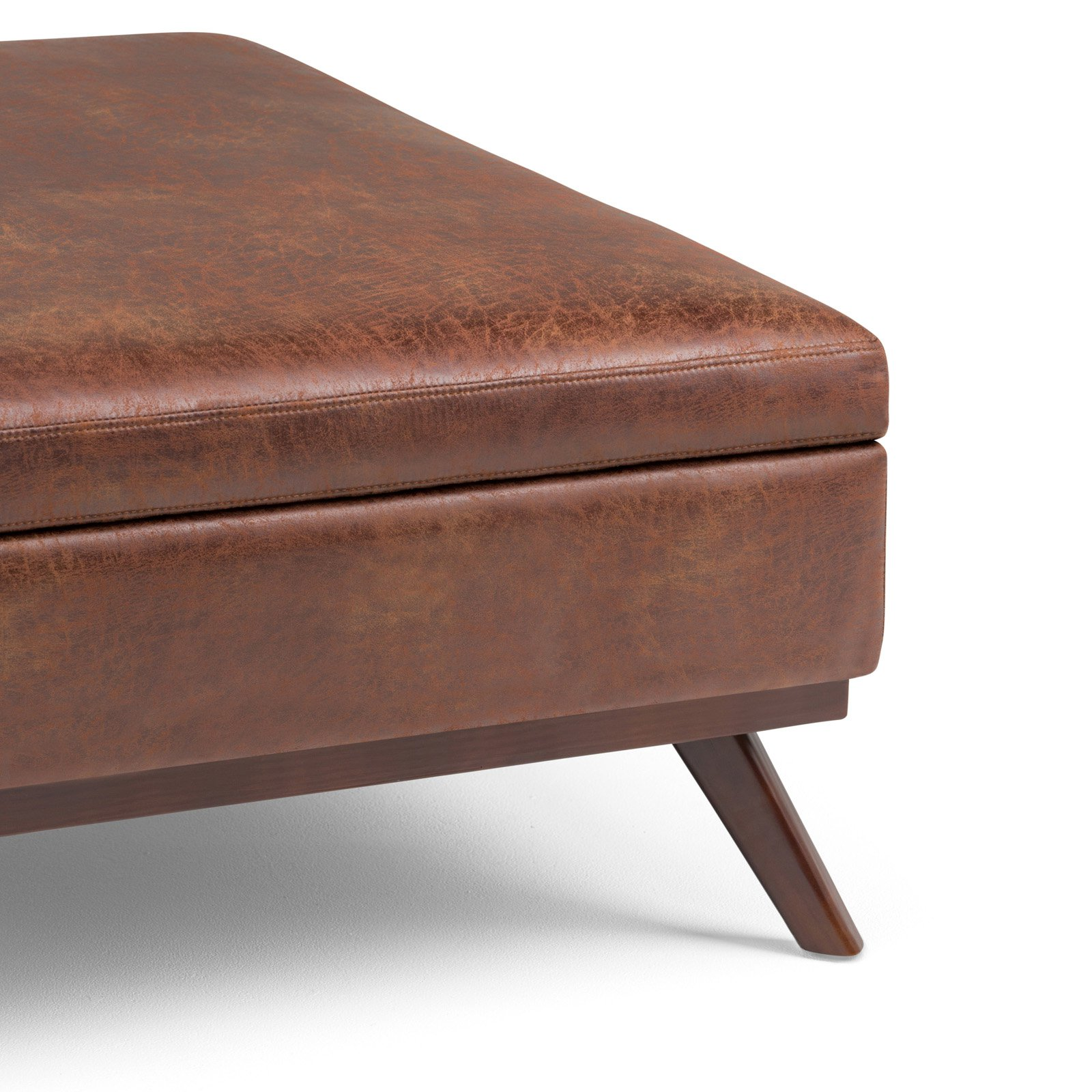 Terrific Simpli Home Owen Square Coffee Table Ottoman With Storage Andrewgaddart Wooden Chair Designs For Living Room Andrewgaddartcom