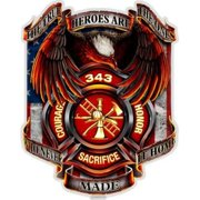 Firefighter True Hero Firefighter 2In Reflective Decal