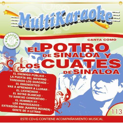 Karaoke: El Potro De Sinaloa Y Los Cuates De Sinaloa