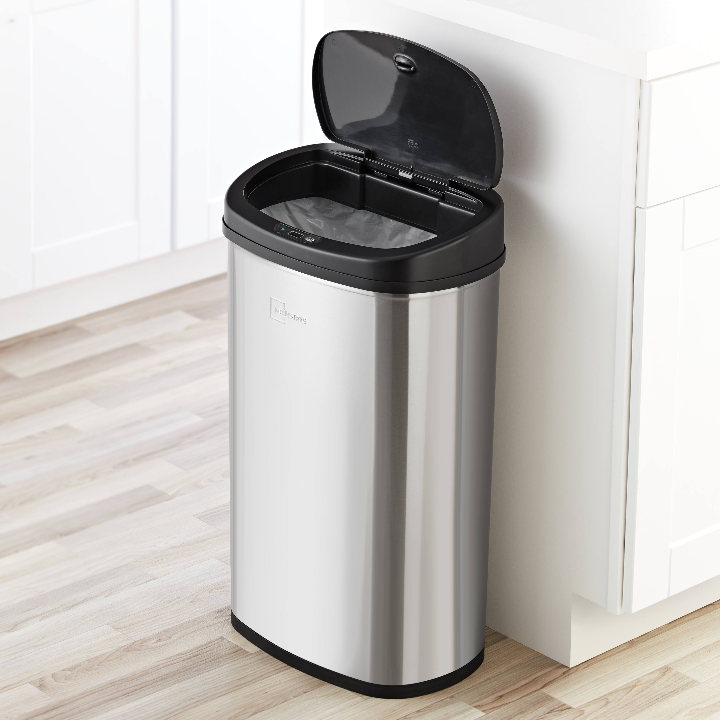 Mainstays Motion Sensor Trash Can, 13.2 Gallon, Stainless ...
