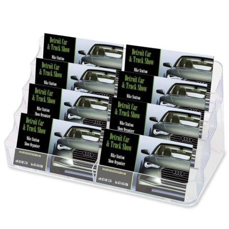 "Deflect-O Corporation Desktop Business Card Holder,8 Comp,8""x3-3/4""x3-7/8"",Clear SKU-PAS936229, CLEAR EIGHT POCKET BUSINESS CARD HOLDER By DeflectO Corporation Ship from US"