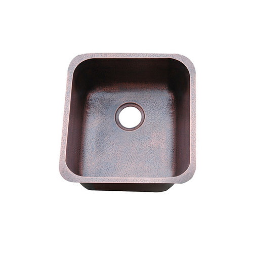 Yosemite Home Decor Hammered Single Bowl Undermount Copper Bar Sink