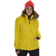 Sessions Dynamite Ski Snowboard Jacket Citron Dobby Stripe Womens